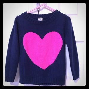 🎀4/$15 Carter's Heart Sweater Toddler Girls 3T